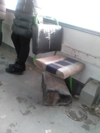Asiento de autobús urbano en Novosibirsk